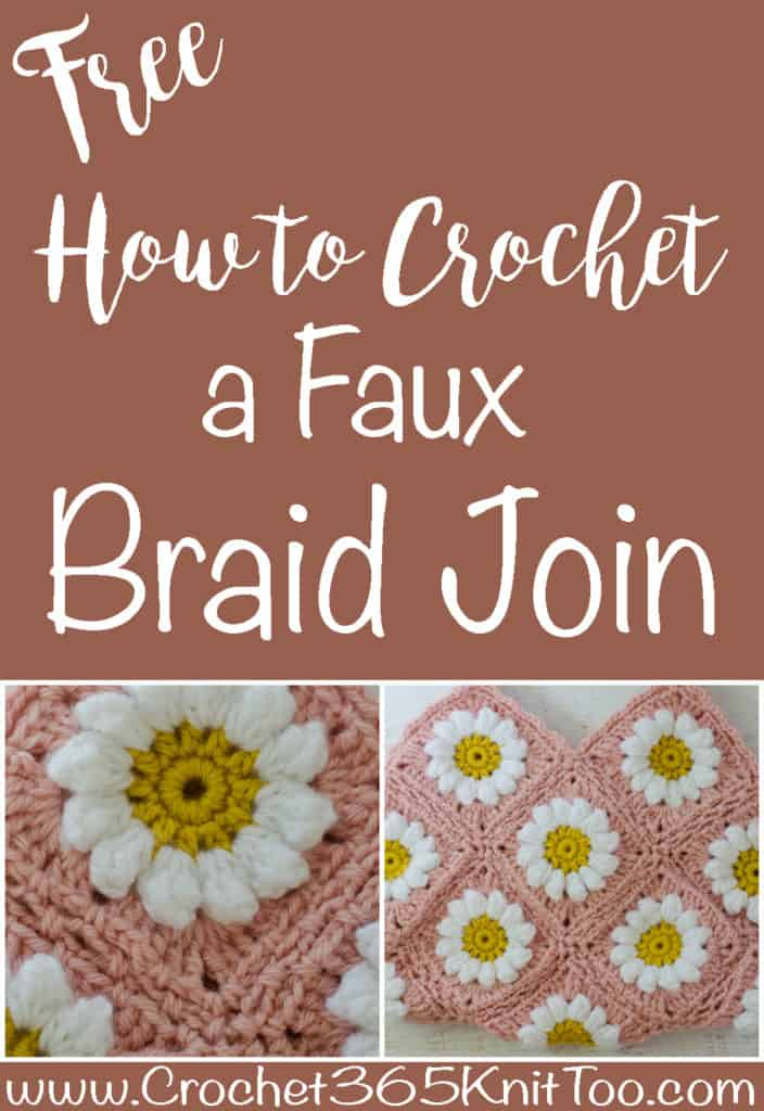 Crochet Faux Braid Join