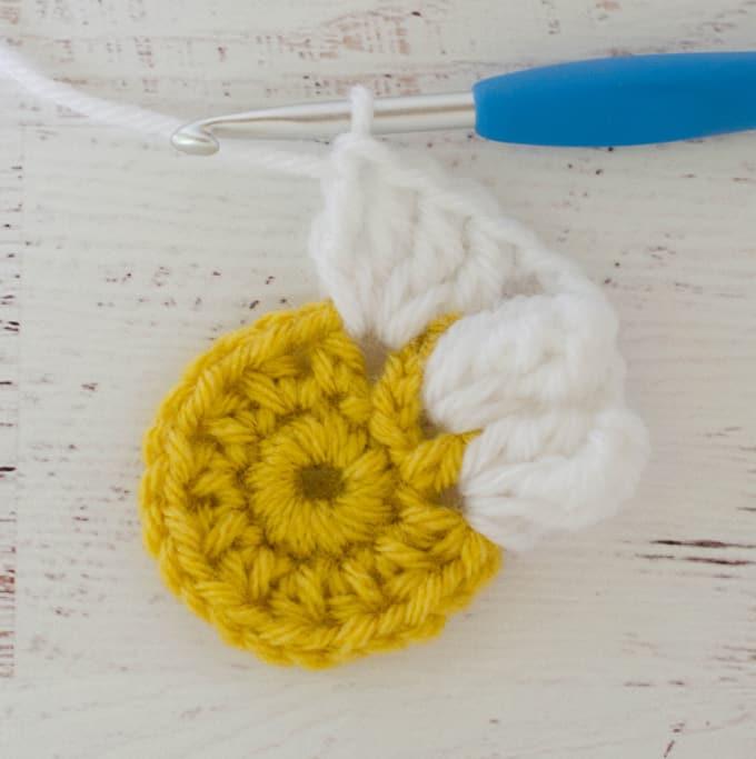 Crochet Puff Daisy Square