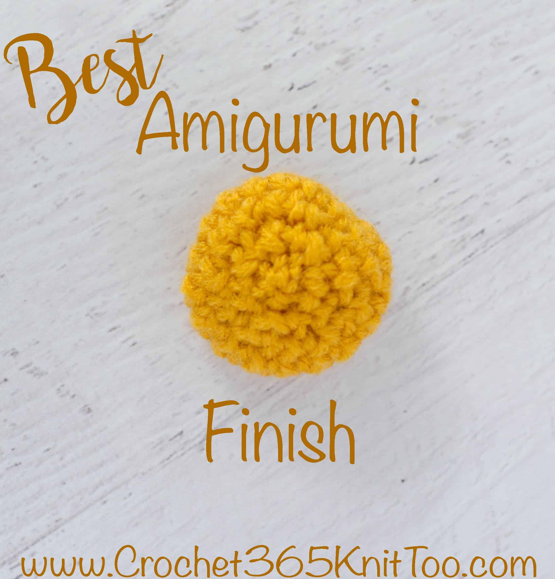 best amigurumi finish