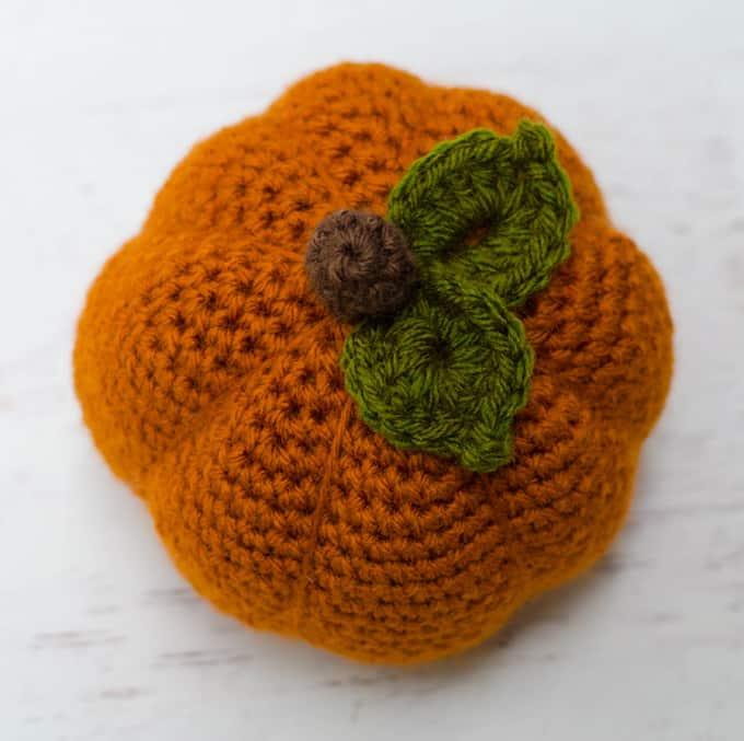 large crochet pumpkin