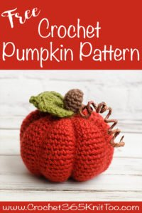 Medium Crochet Pumpkin