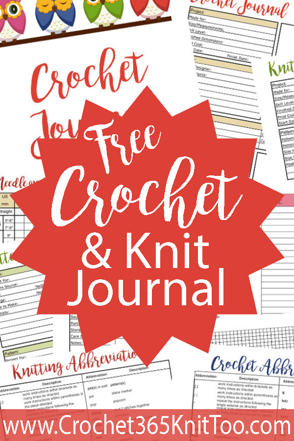 Free Crochet and Knit Journal - Crochet 365 Knit Too