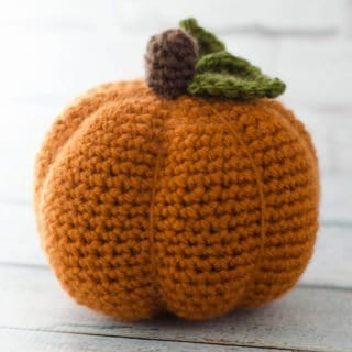 large crochet pumpkin