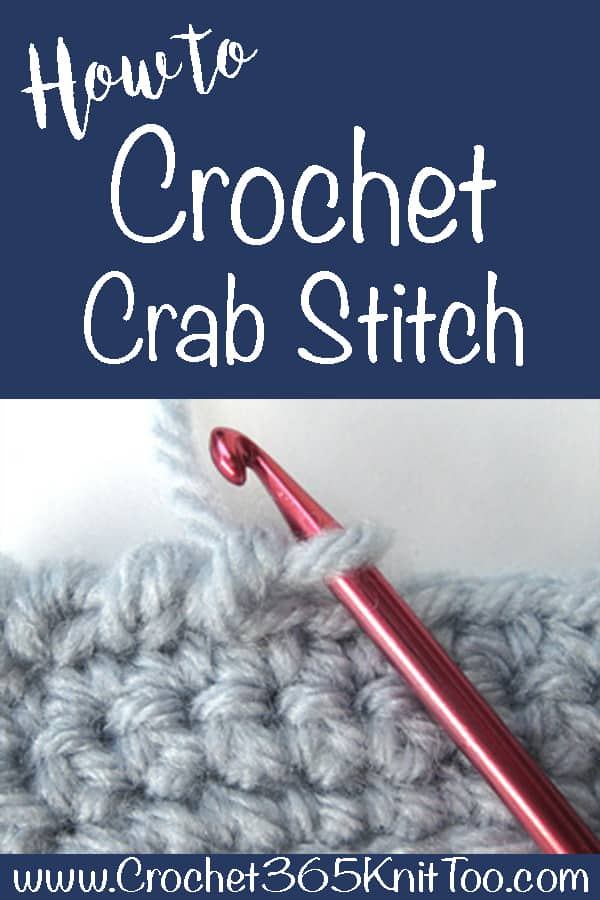 Reverse single crochet stitch also known as crochet crab stitch