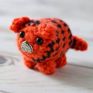 Crochet Tiger Bitty Bumble