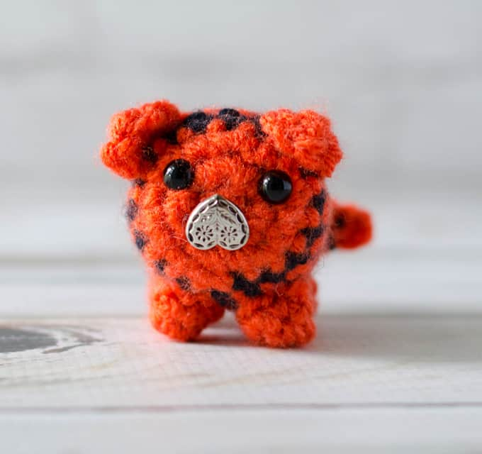 Crochet Tiger Bitty Bumble