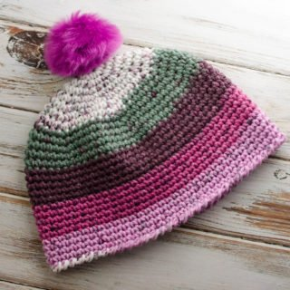 Mrs Plum Chunky Crochet Hat