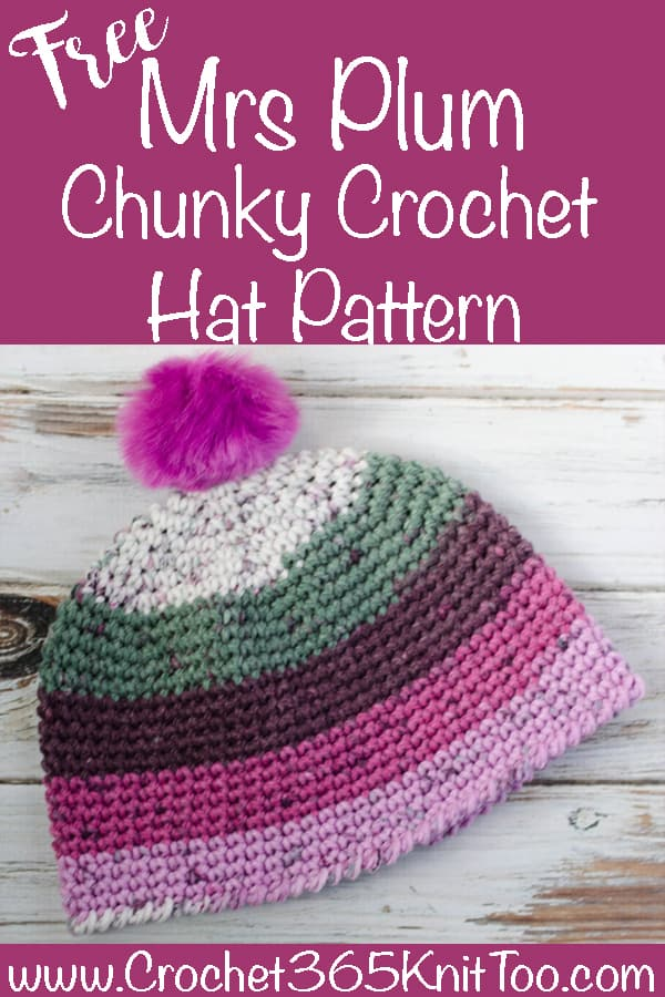 Mrs Plum Chunky Crochet Hat - Crochet 365 Knit Too