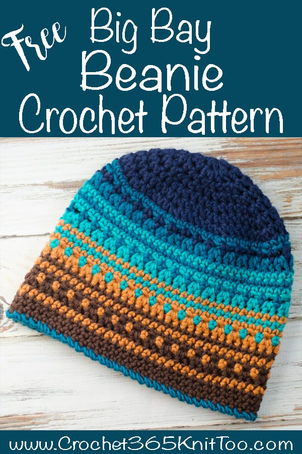 Graphic of Crochet Big Bay Beanie Pattern