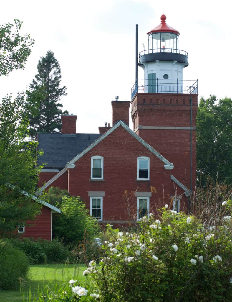 Big Bay Lighthouse in the summer