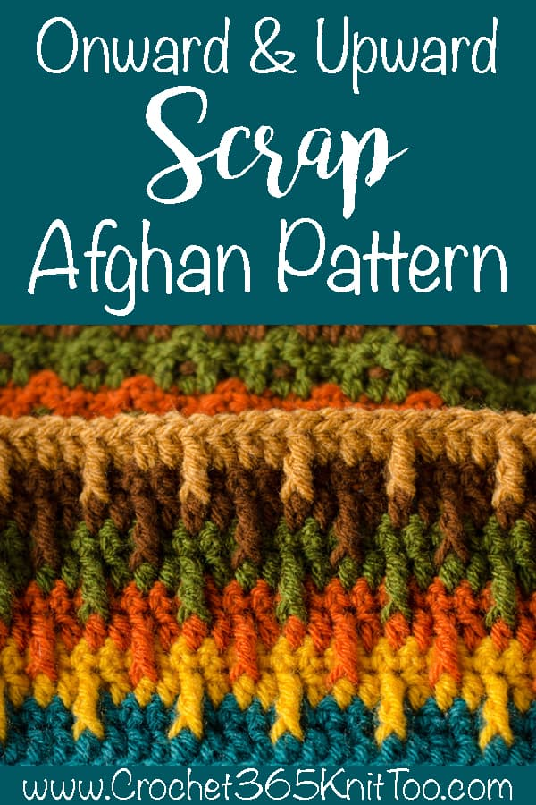 onward and upward scrap afghan