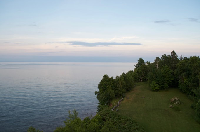 Lake Superior view from a cliff