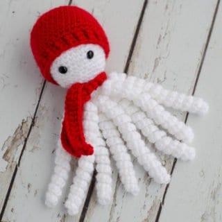 Crochet Snowman Octopus