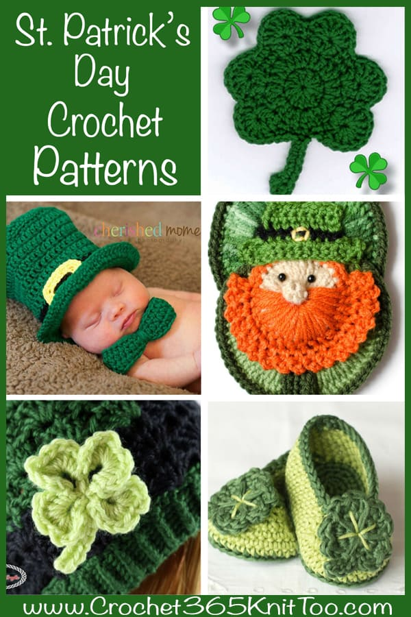 Shamrock Patterns st patricks day crochet