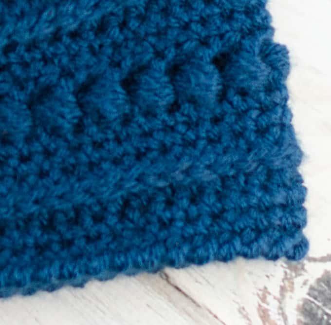 Blueberry Bead Stitch Beanie