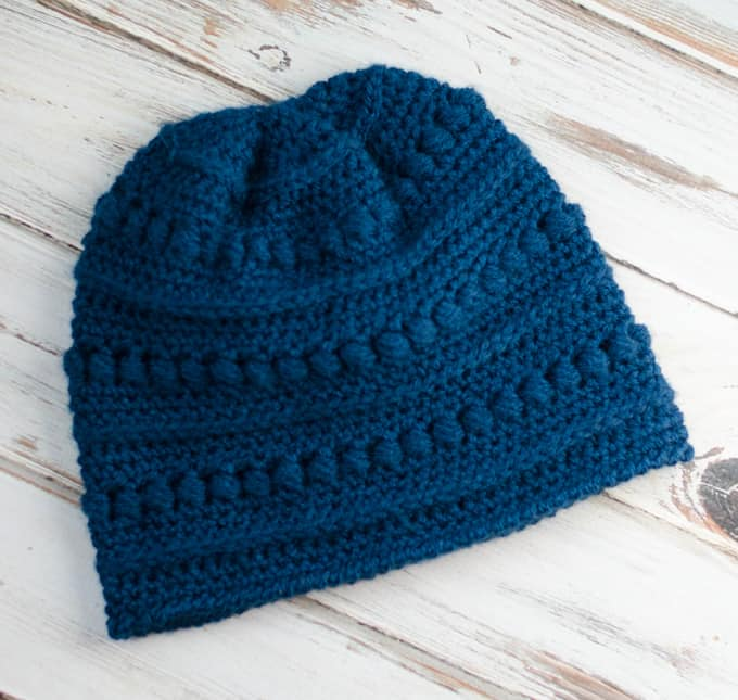 Blueberry Bead Stitch Beanie