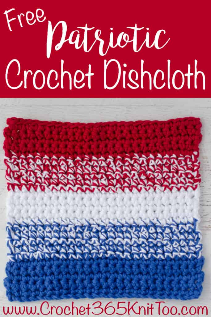 Patriotic Crochet Dishcloth Pattern Graphic
