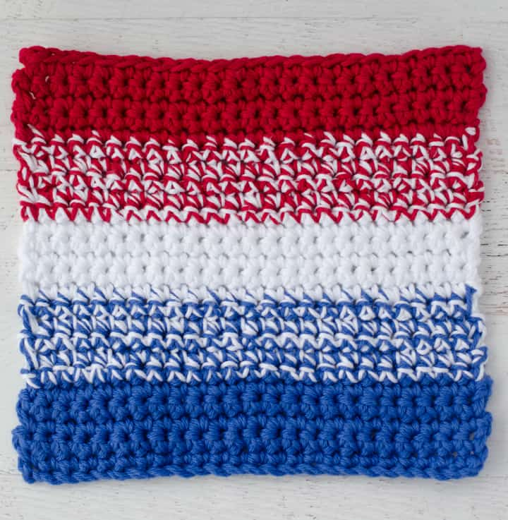Patriotic Crochet Dishcloth Pattern