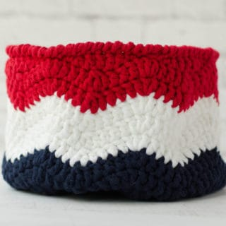 Crochet Flag Basket - Waves of Glory
