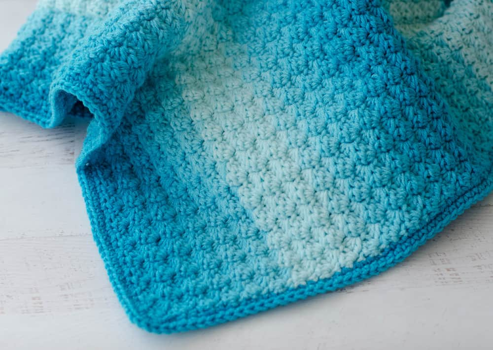 Crochet Sedge Stitch Baby Afghan Pattern