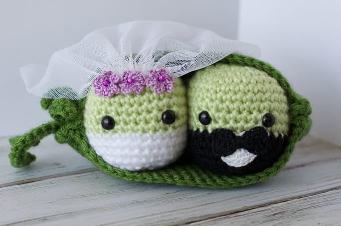Crochet Wedding Peas