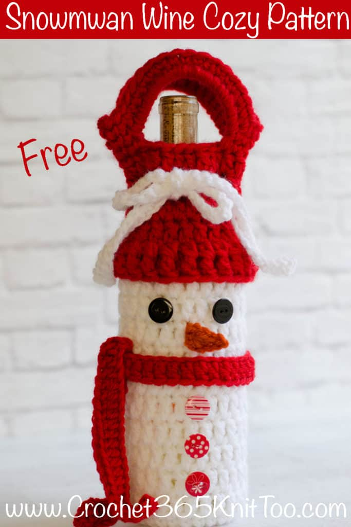 Snowman Wine Cozy