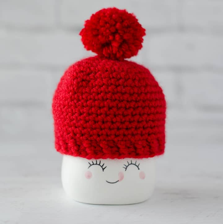 Crochet Marshmallow Mug Hat