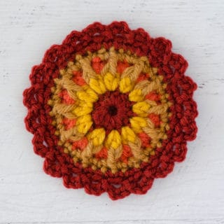 crochet mandala flower