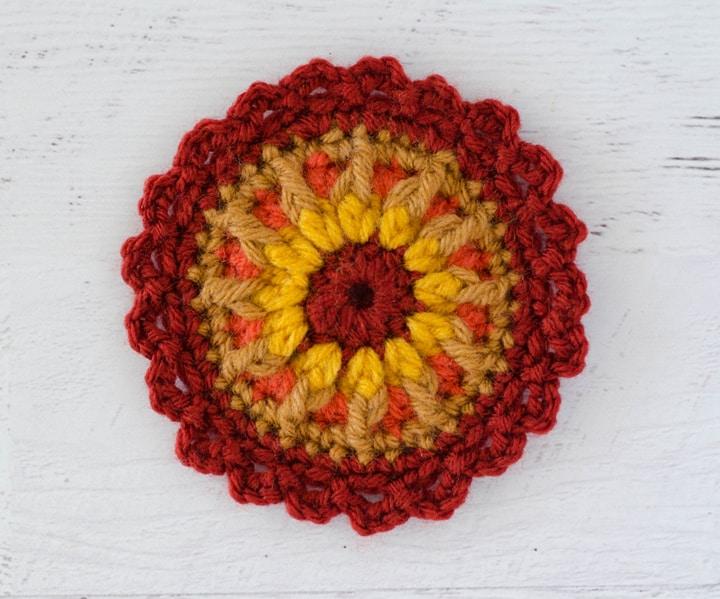 crochet mandala flower