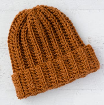 Ribbed Wonder Easy Crochet Hat