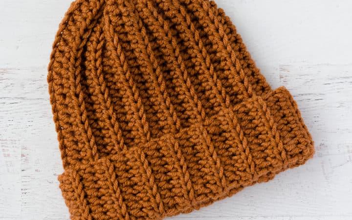 Ribbed Wonder Easy Crochet Hat
