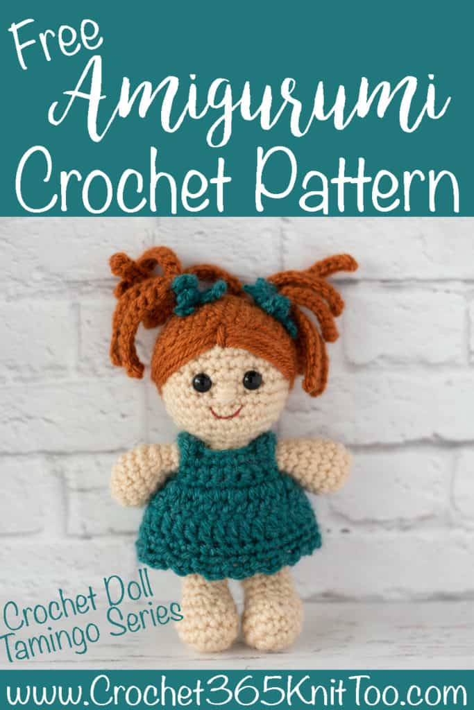 Image of crochet doll with orange hair