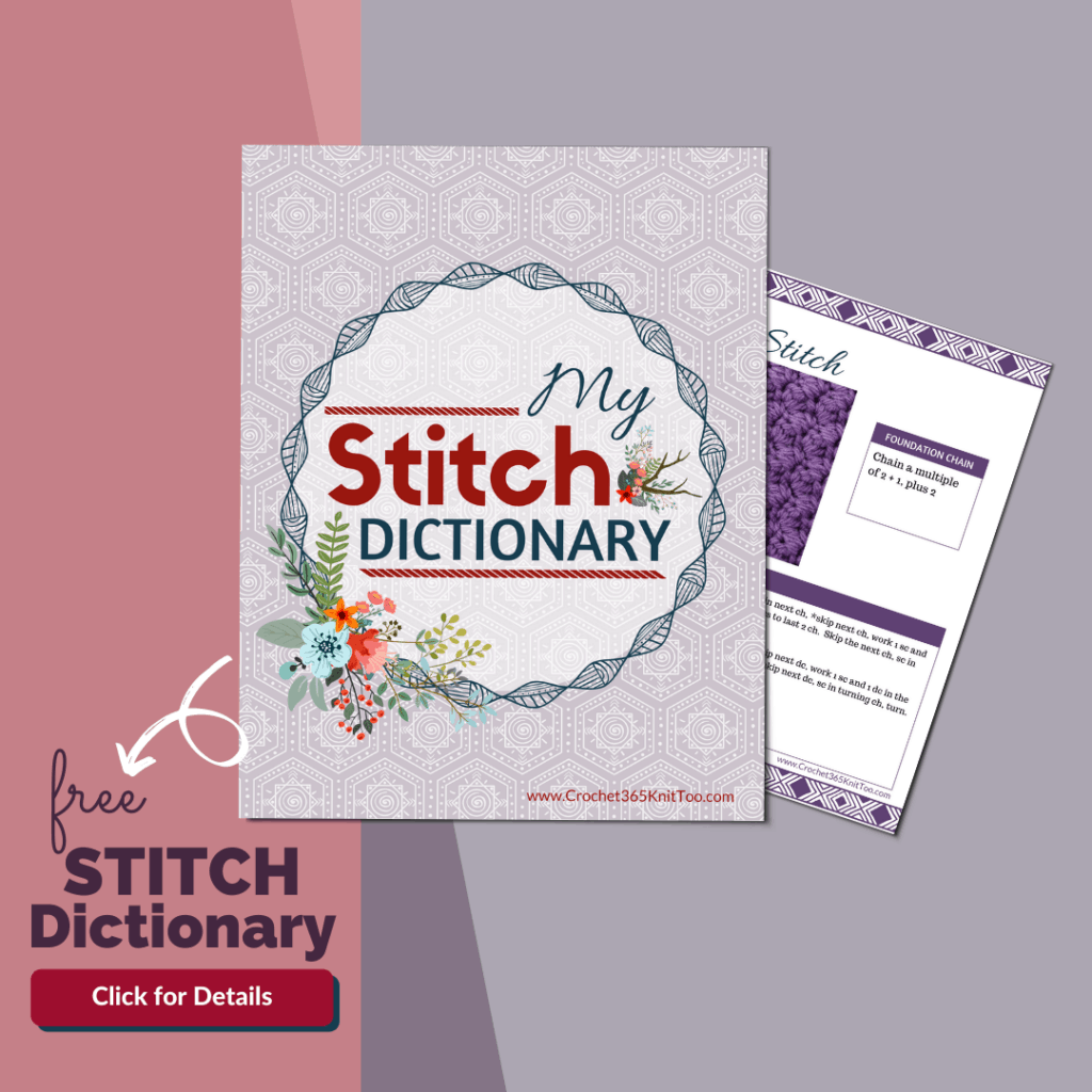 Image representation of a stitch dictionary printable