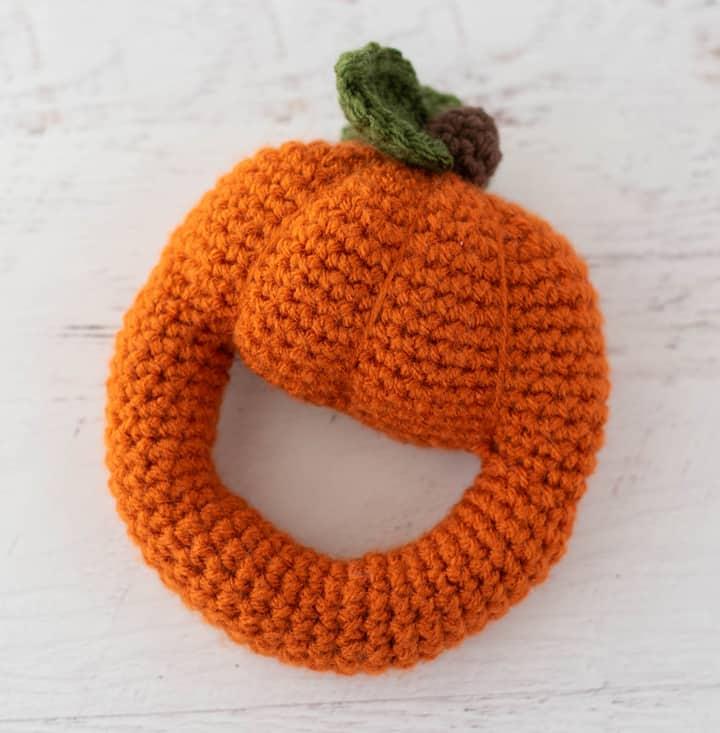 Crochet Pumpkin Rattle