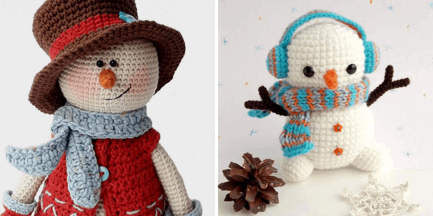 crochet Christmas snowman amigurumi