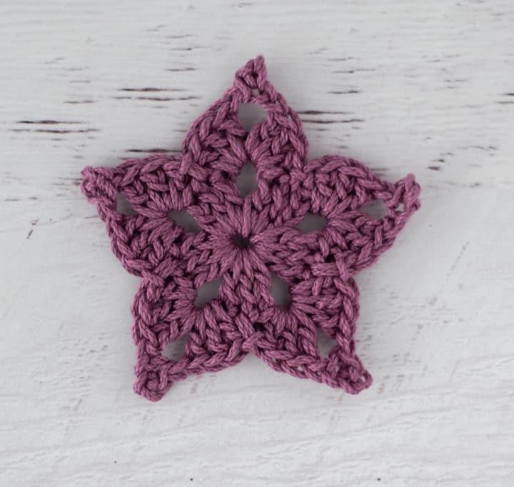 purple crochet star