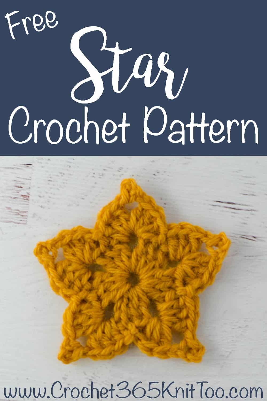 yellow crochet star