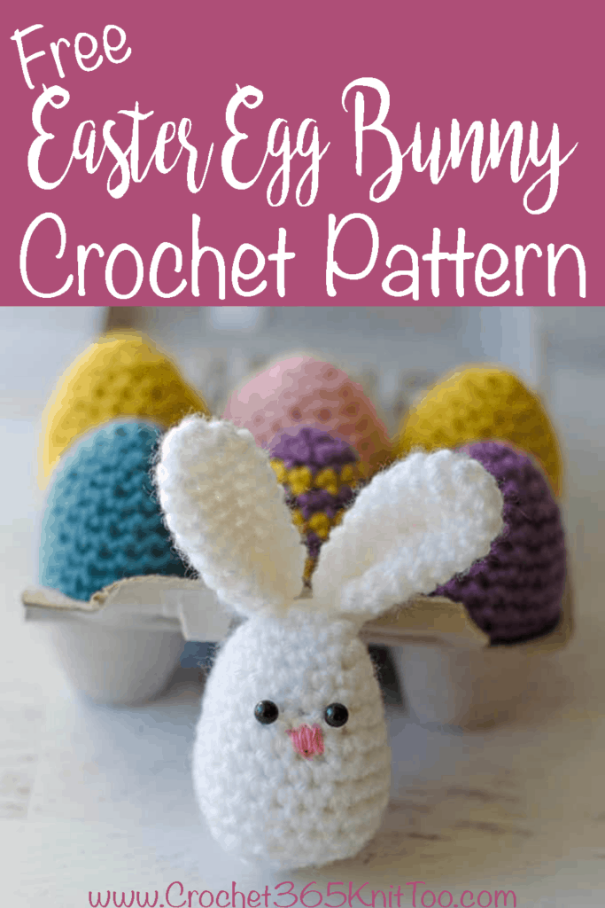 Graphic of Easter Egg Bunny Crochet Pattern