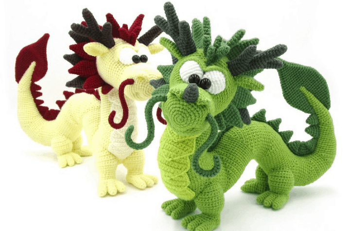 crochet amigurumi Chinese dragon