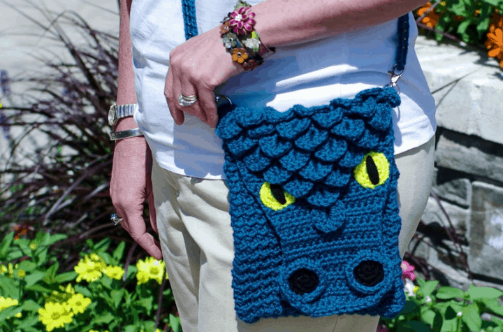crochet dragon purse