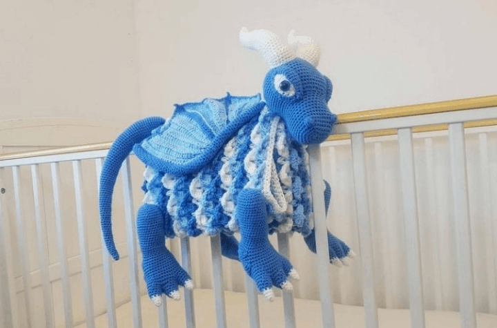 crochet dragon baby blanket