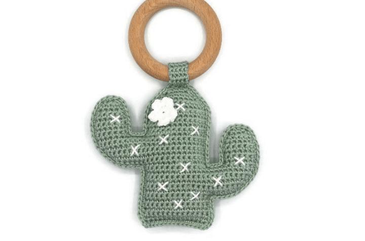 crochet cactus rattle