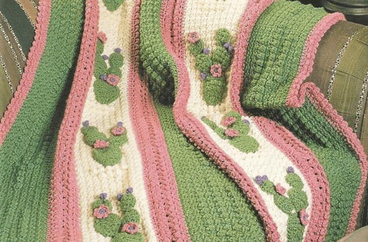 crochet cactus blanket