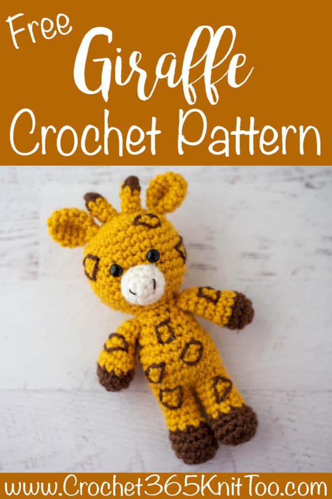 yellow and brown crochet giraffe