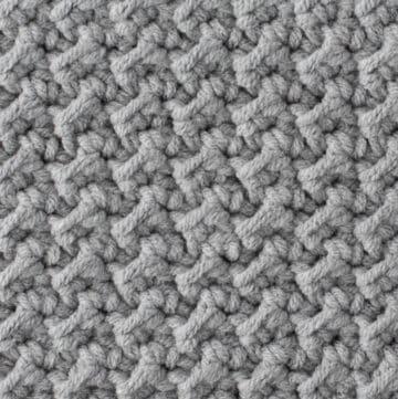 up close crochet stitch swatch