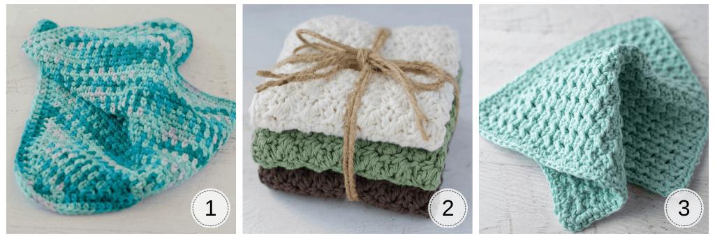 Assortment of crochet dishcloths