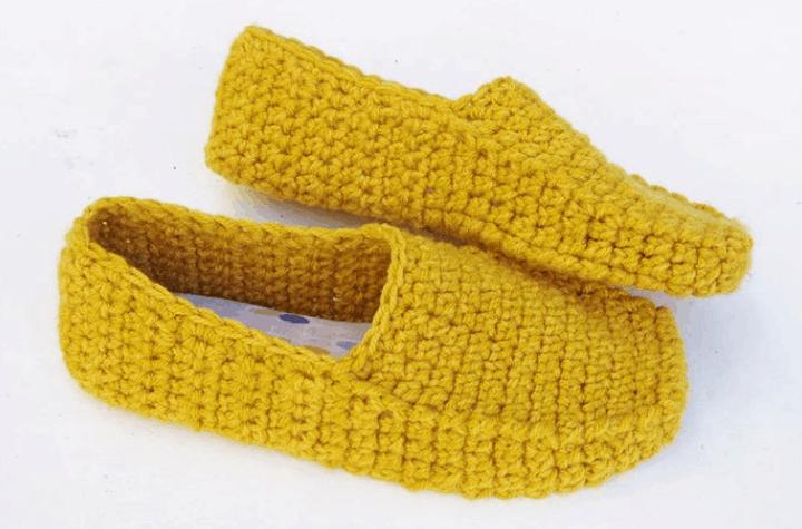 crochet loafer slippers