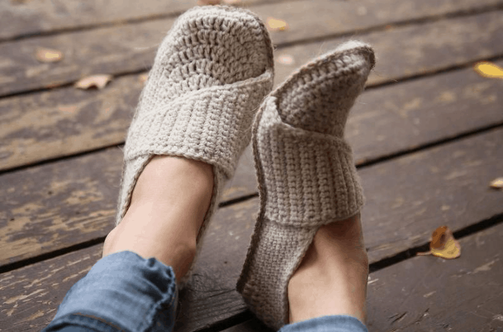 crochet wrap slippers